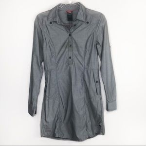 The North Face Gray Button-Down Dress